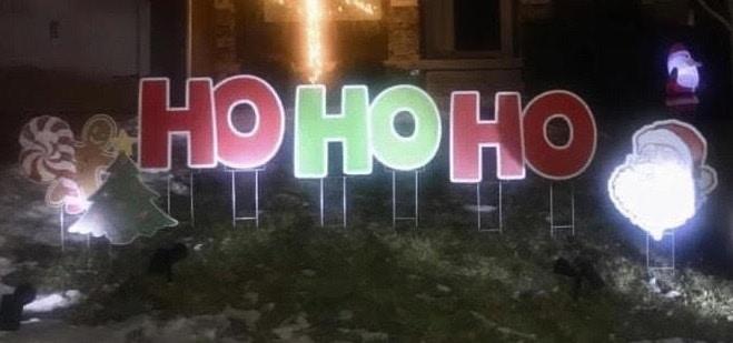 holiday yard sign